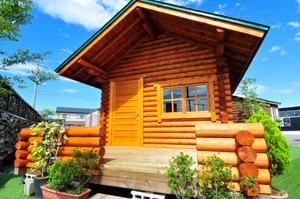 丸太ミニログハウスの写真